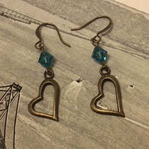 Heart & Crystal Earrings